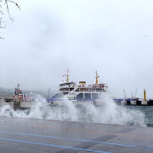 Kuzey Ege'deki ada seferlerine fırtına engeli
