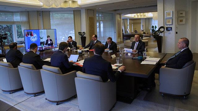 Turkey's president on Thursday took part in an extraordinary meeting of leaders of the G20 economic bloc focusing on the coronavirus pandemic.