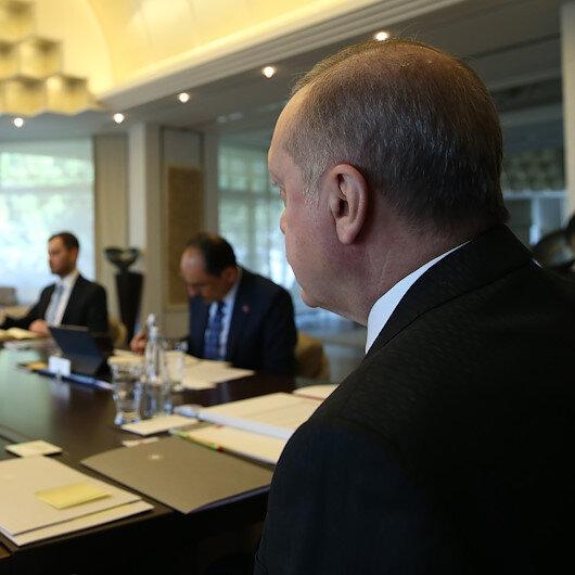 Turkish president chairs Cabinet meeting via teleconference