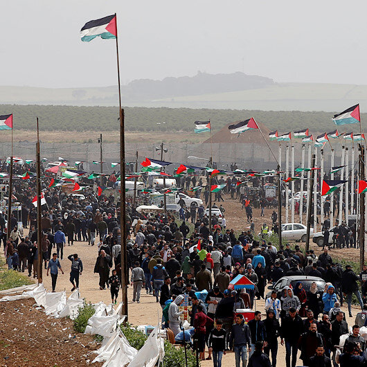 Gazans mark Land Day amid anti-coronavirus measures