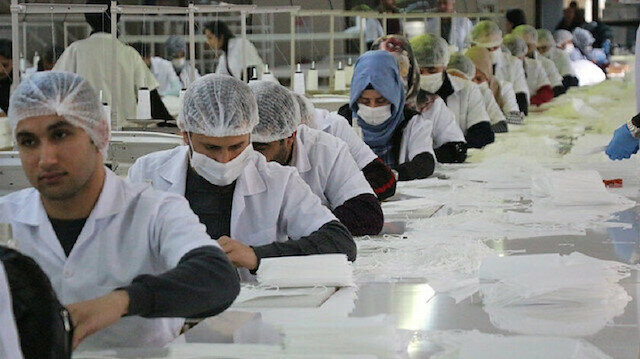 A textile firm located in Turkey's southeastern Batman province receives 1 billion face masks order