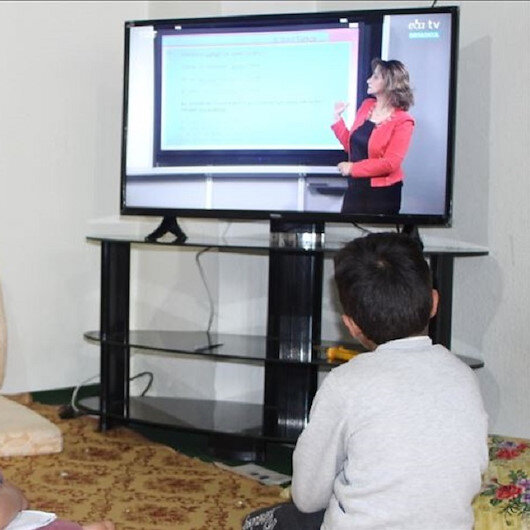 Siblings gifted TV to follow remote lessons in Turkey