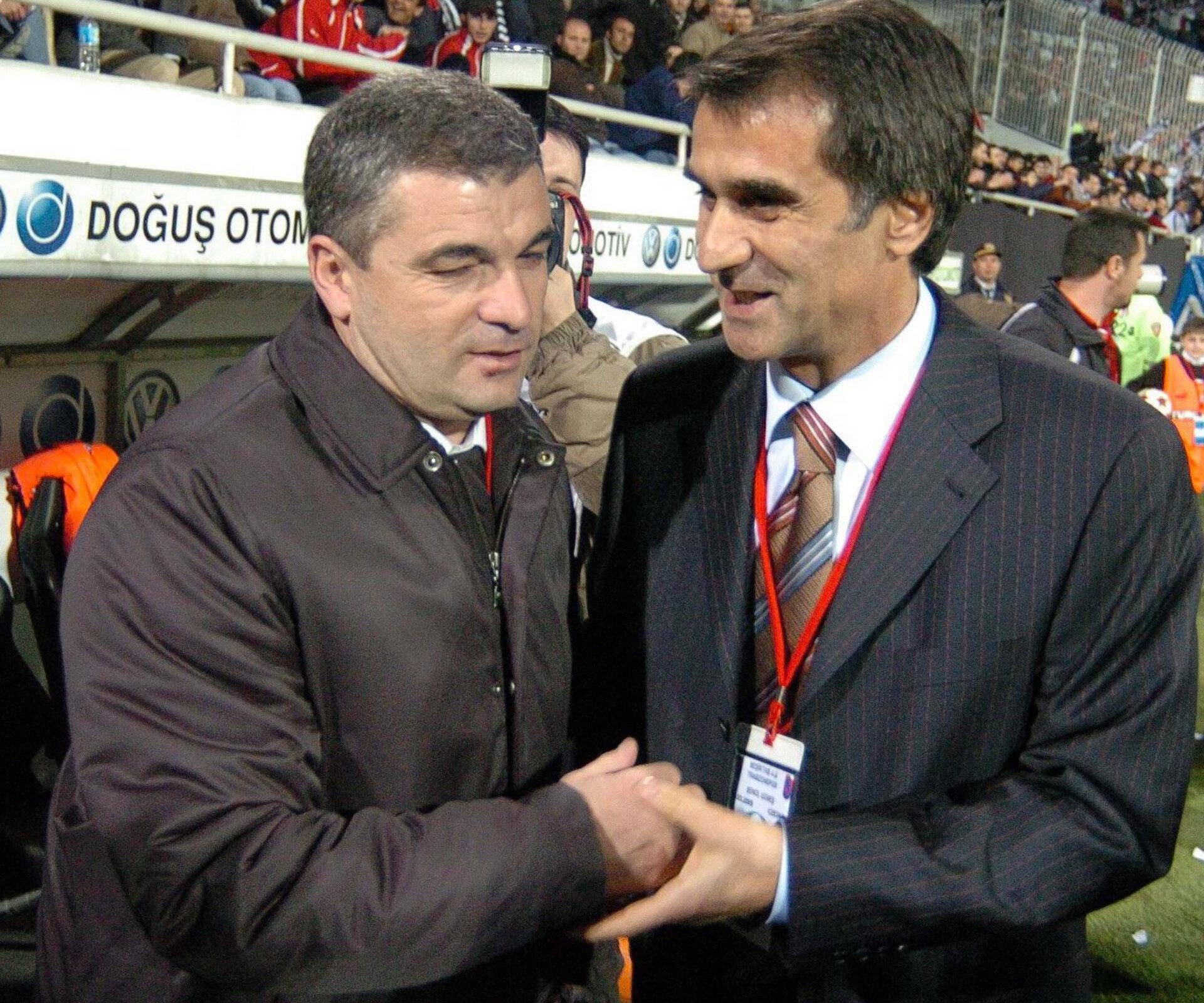 Dönemin Beşiktaş Teknik Direktörü Rıza Çalımbay & Trabzonspor Teknik Direktörü Şenol Güneş