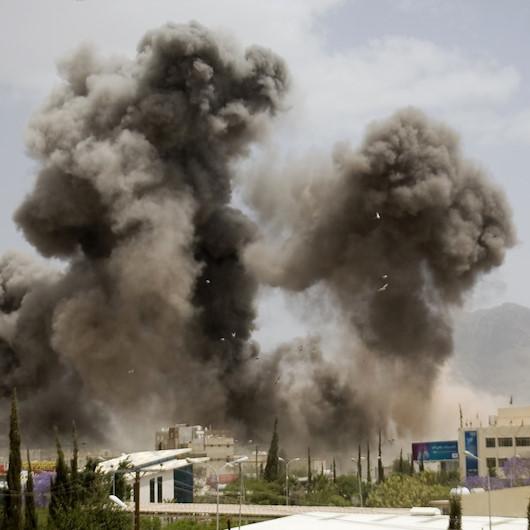 Suudi Arabistan öncülüğündeki koalisyondan Yemen'e 50 hava saldırısı