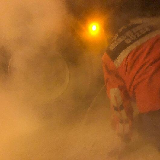 Bolu Dağı'nda faciadan dönüldü: Uygulama noktasında durdurulan kamyon lastiklerinden tutuştu