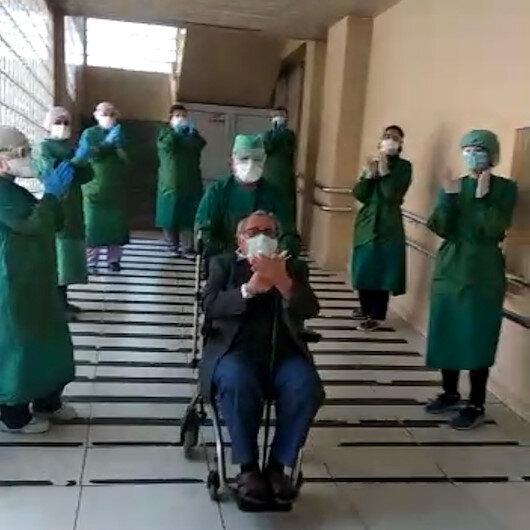67 yaşında virüsü yendi, alkışlarla taburcu edildi