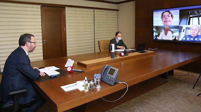 Toplantı video konferans yöntemiyle gerçekleştirildi.