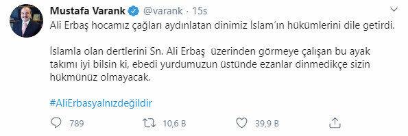 Mustafa Varank'ın paylaşımı