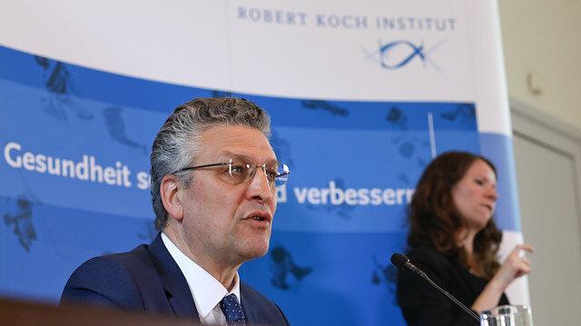 The head of the Robert Koch Institute, Lothar Wieler,