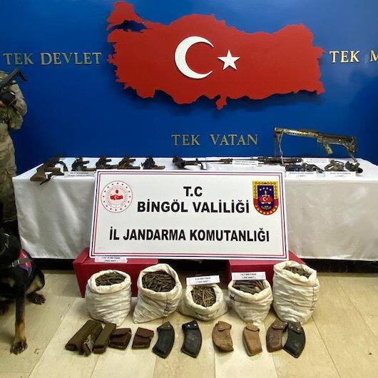 Bingöl'de terör örgütü PKK'ya darbe: Cephanelik ele geçirildi