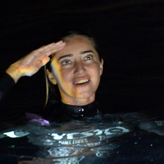 Turkish diver focuses on home workouts in lockdown