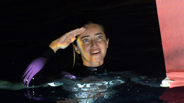 Turkish diver Sahika Ercumen
