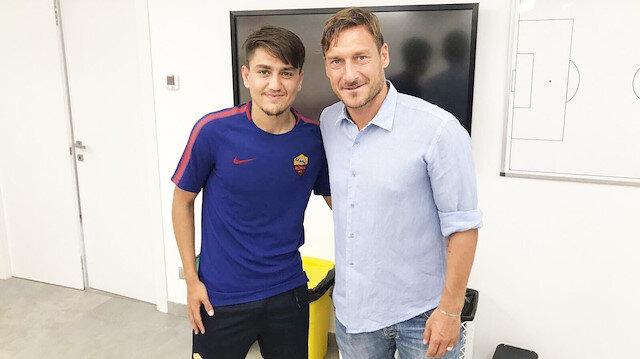 Francesco Totti ve Christian Vieri'den Cengiz Ünder'e övgü dolu sözler
