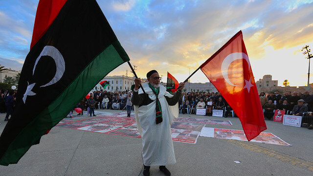 Demonstration against eastern Libyan strongman Khalifa Haftar