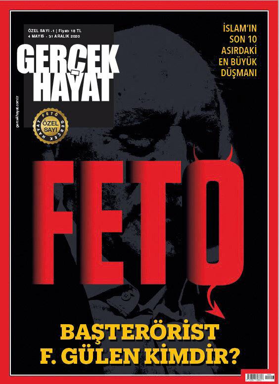 Gerçek Hayat Dergis'sinin FETÖ terör örgütüne yönelik hazırladığı özel sayı