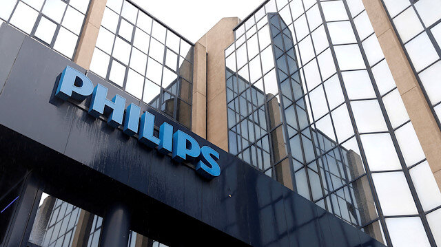 FILE PHOTO: The logo of Philips is seen at the company's entrance in Brussels September 11, 2012
