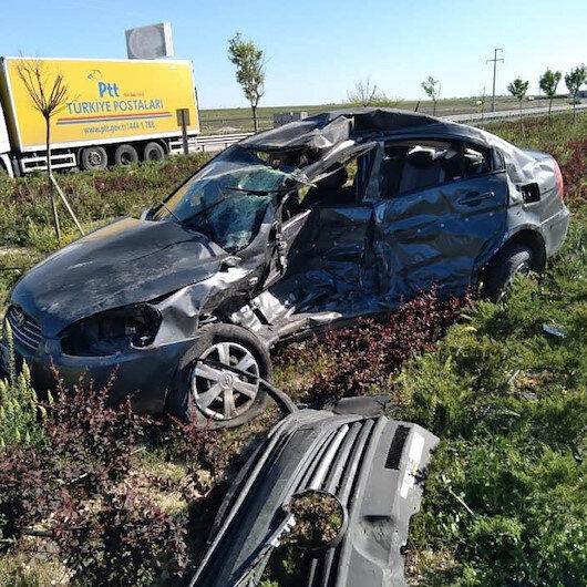 Otomobil ile minibüsün çarpışması sonucu bir kişi öldü