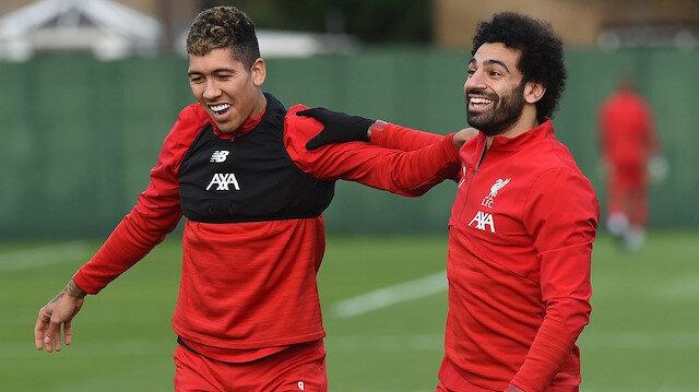 Liverpool'un yıldızları Firmino ve Salah
