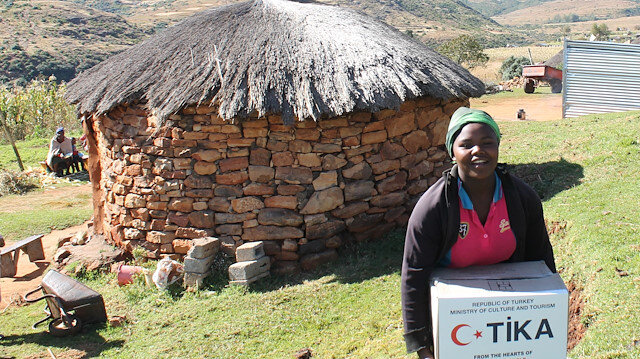 Turkey's state-run aid agency distributed food aid in Lesotho
