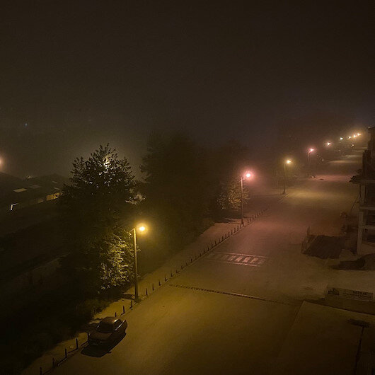 Düzce'de yoğun sis etkili oluyor