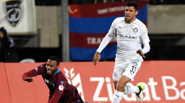 Cenk Özkacar Türkiye Kupası maçında Trabzonspor'a karşı forma giymişti.