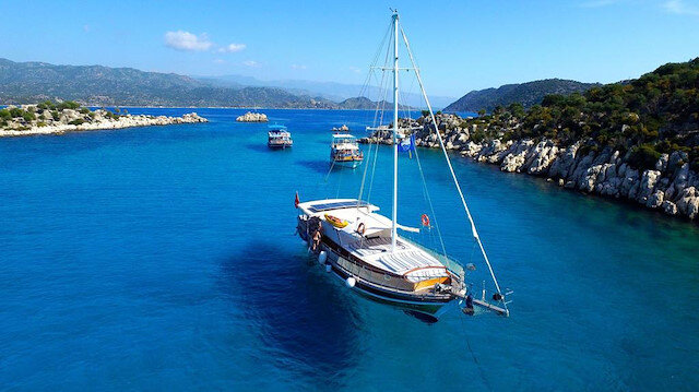 Turkey has a total of 486 beaches, 22 marinas and seven yacht docks bearing the coveted flag, behind only Spain and Greece