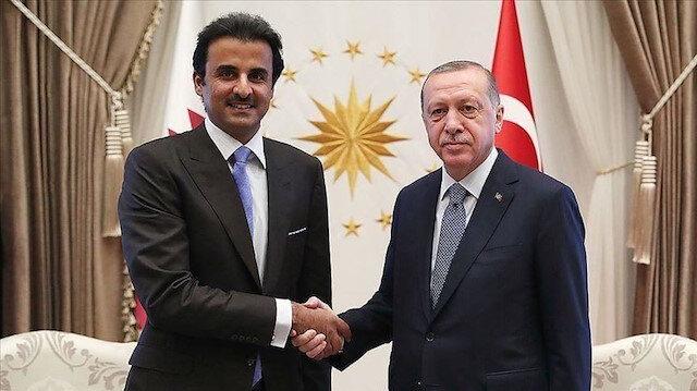 أردوغان وأمير قطر يبحثان سبل التعاون في مكافحة كورونا