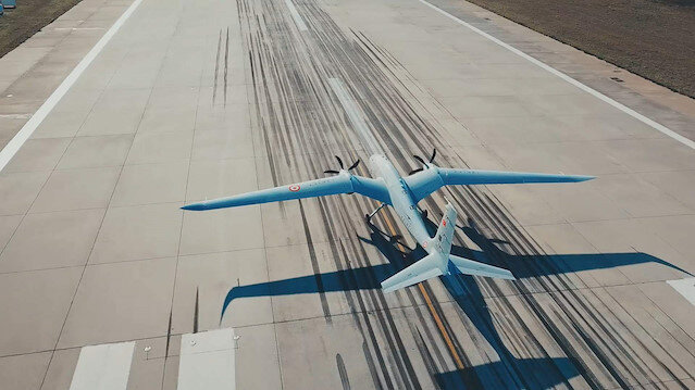 The first Turkish unmanned combat aerial vehicle (UCAV) Akinci