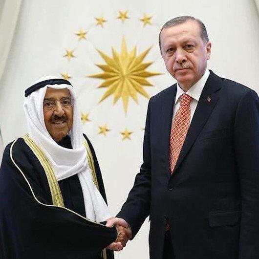 الرئيس أردوغان يبحث مع أمير الكويت التطورات الإقليمية