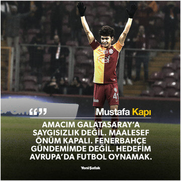 Mustafa Kapı, Galatasaray'dan ayrıldıktan sonra bu açıklamayı yapmıştı.