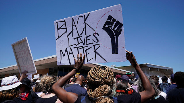 File photo: People take part in a Black Lives Matters protest during nationwide unrest following the death in Minneapolis police custody of George Floyd, in Oklahoma City, Oklahoma, U.S., May 31, 2020