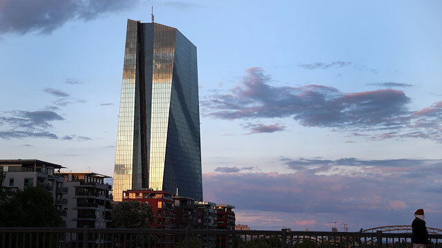 The head quarter of the European Central Bank (ECB) in Frankfurt, Germany.