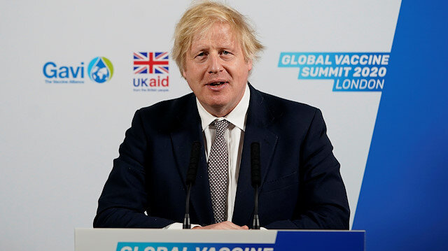 Britain's Prime Minister Boris Johnson delivers his speech to the Global Vaccine Summit (GAVI) via Zoom from the White Room of 10 Downing Street in London, Britain June 4, 2020. Andrew Parsons/10 Downing Street via REUTERS
