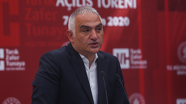 Turkey's culture and tourism minister Mehmet Nuri Ersoy