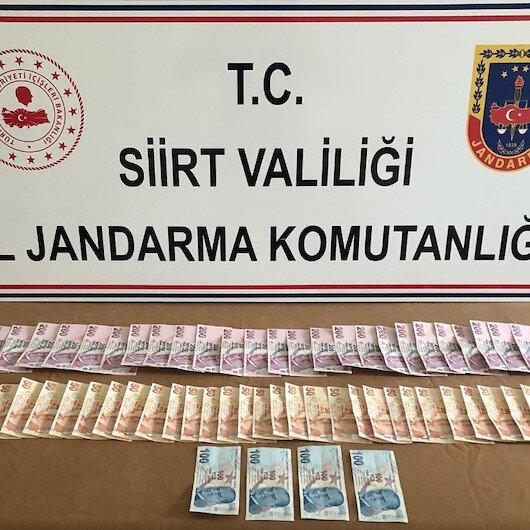 Siirt'te sahte para operasyonu: 7 bin lira sahte para ele geçirildi