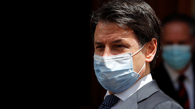 Italian Prime Minister Giuseppe Conte wearing a protective face mask, leaves the Senate as the spread of the coronavirus disease (COVID-19) continues, in Rome, Italy May 20, 2020
