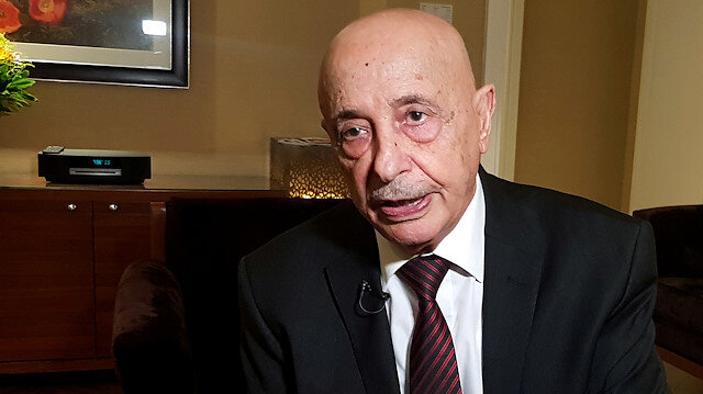 The head of Libya's Tobruk-based parliament Aguila Saleh