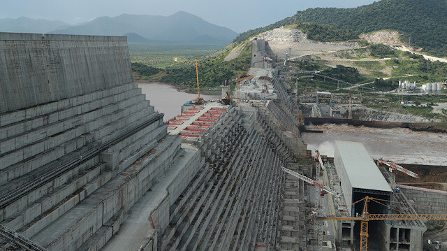 Ethiopia's Grand Renaissance Dam is seen