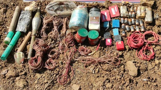 Turkeish security forces nab explosives belonging to PKK