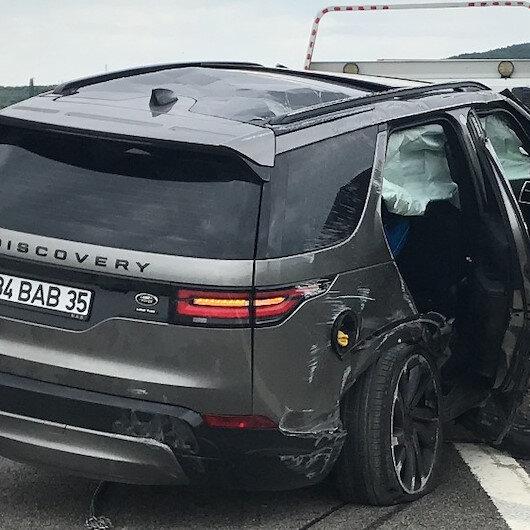 Land Rover Discovery düz yolda giderken aksı kopunca takla attı: Kazada Alişan ölümden döndü