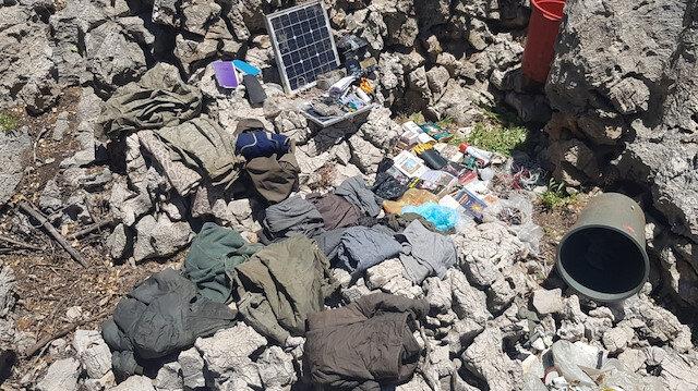Turkish forces discover 2 PKK winter hideouts