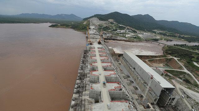 FILE PHOTO: Ethiopia's Grand Renaissance Dam is seen as it undergoes construction on the river Nile in Guba Woreda, Benishangul Gumuz Region, Ethiopia, September 26, 2019.