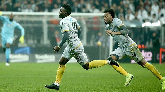 Thievy Bifouma, Yeni Malatyaspor formasıyla çıktığı 41 maçta 8 kez fileleri havalandırdı.