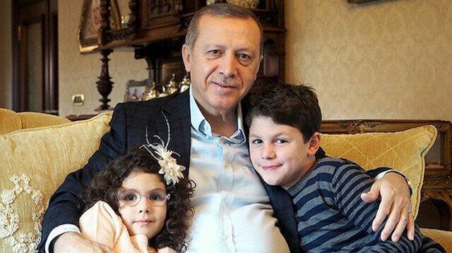"""الرئيس التركي يحتفل بحفيده الثامن """"حمزة صالح"""""""