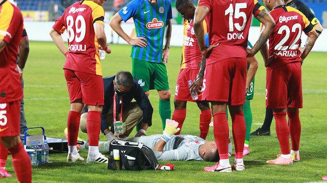 Rizespor maçında Muslera'nın ayağı iki yerden kırılmıştı.