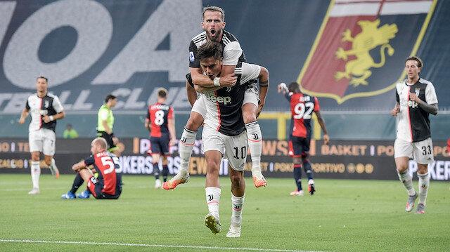 Juventus'ta Dybala takımını öne geçiren golü kaydetti.