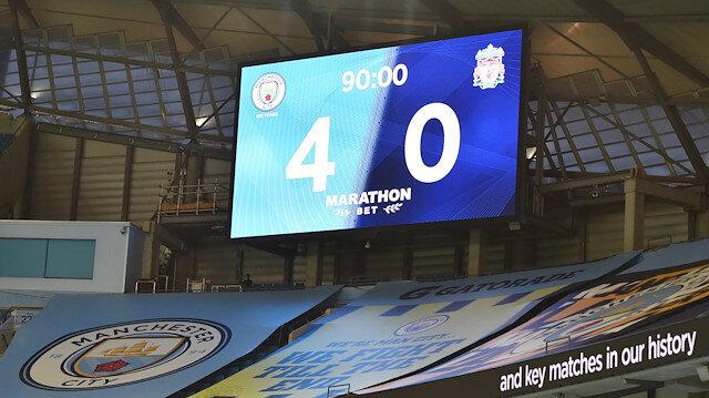 Manchester City, Premier Lig şampiyonu Liverpool'u 4 golle yendi