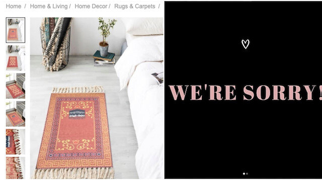 Fashion giant apologizes for selling Muslim prayer mats with Kaaba motif as 'Greek carpets'
