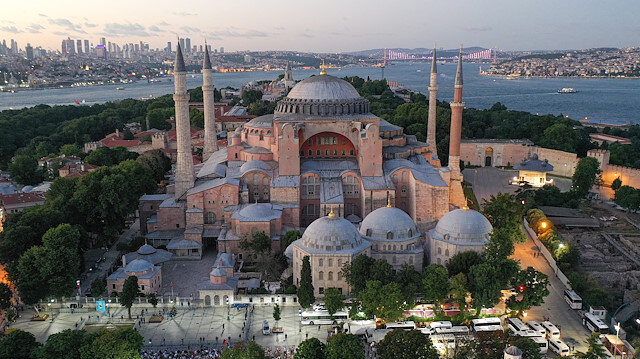 First call to prayer recited at Hagia Sophia after Turkish court ruling