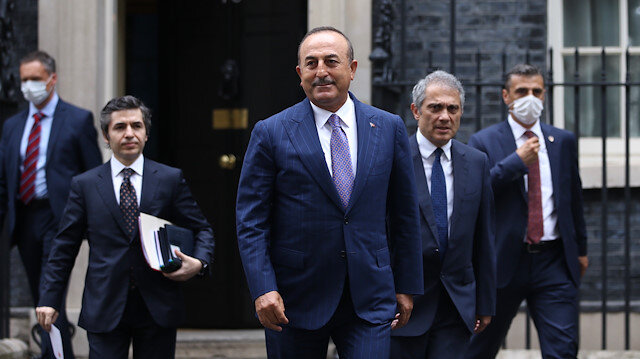 Turkish FM Mevlüt Çavuşoğlu in London